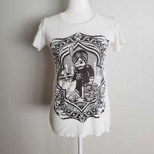 Shepard Fairey OBEY Rock The Casbah DJ Tee Shirt